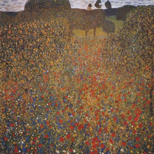 Prado con amapolas Gustav Klimt