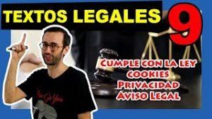 tutorial politica de cookies privacidad y aviso legal